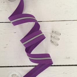 Reißverschluss 3mm /violett