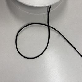 Gummiband rund, schwarz, 3mm