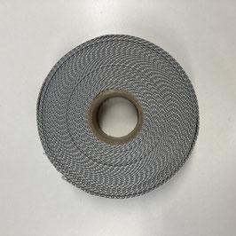 Gurtband silbergrau, 4cm breit