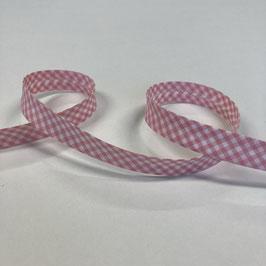 Schrägband Vichykaro, rosa