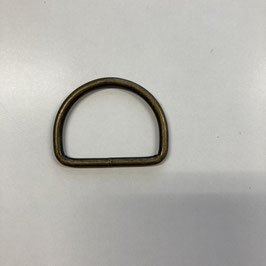 D-Ring, altmessing, 4cm