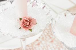 Blumen und Crushed Ice