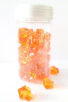 Acrylsteine in Orange