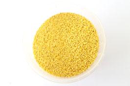 Feines Granulat in Zitronengelb