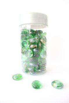 Glasnuggets in Grün