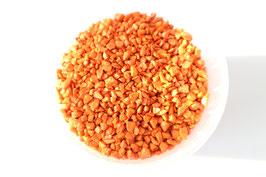Grobes Granulat in Orange