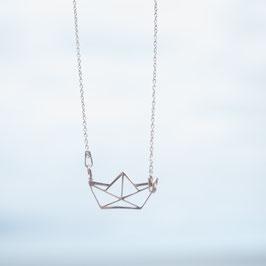 Silberkette Origami Schiffchen