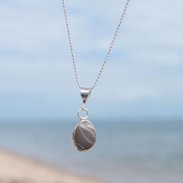Strandkiesel Silberkette