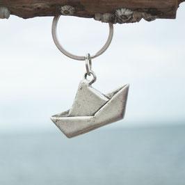 Schlüsselanhänger Schiffchen flach