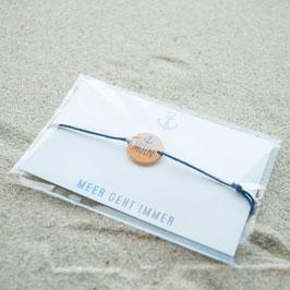 Moin Armband blau / Kupfer