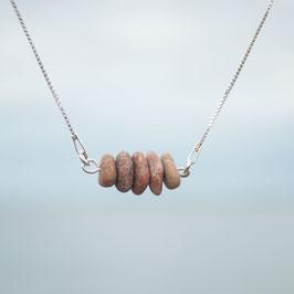 Silberkette Strandkiesel 1