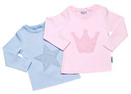 Babyshirt mit Vichykaro - Motiv