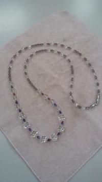 水晶のネックレス・リメイク