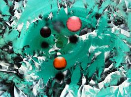 Renato Natale Chiesa - Tre sfere su campo verde