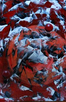 Renato Natale Chiesa Due sfere rosse