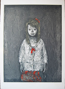 Xavier Bueno - Bambina con fiocco rosso