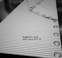 Duschvorhang Baumwolle XL 4cm Ösen