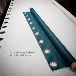 Duschvorhang XL Format 100% Leinen 4cm Ösen