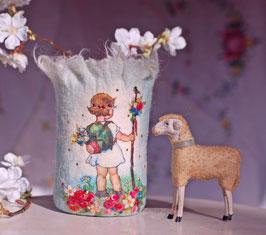 Vase hellblau Frühlingskind