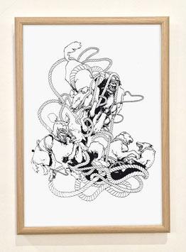 """Sérigraphie """"ENTRELACS"""" by Alexandre d'Alessio"""