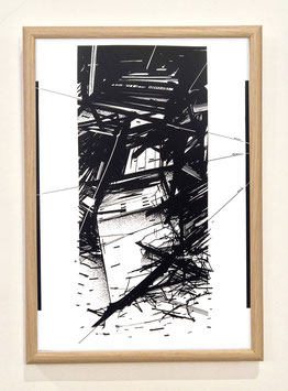 """Sérigraphie """"Broken Lines"""" By Heng"""