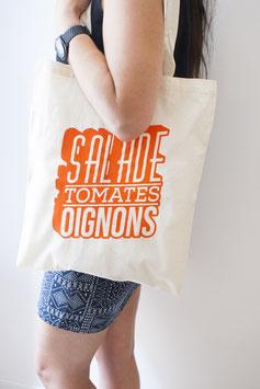 "TOTE BAG ""SALADE TOMATE OIGNONS"" Écru"