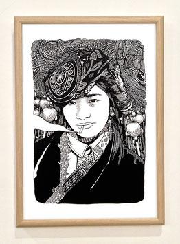 """Sérigraphie """"Sous la Fumée la Jungle"""" By Ohido"""
