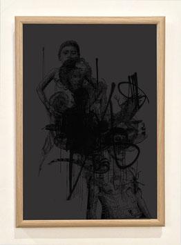 """Sérigraphie """"Combinaisons black"""" by Stephane Carricondo"""