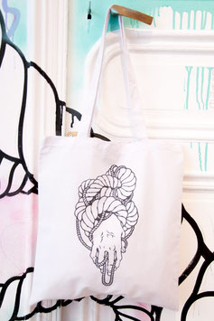 "tote bag "" Main Entrelacs """
