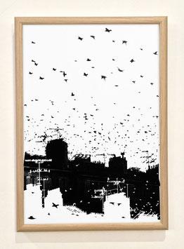 "Sérigraphie ""Migration"" by Matthieu Redon"