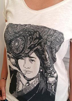 """T-shirt Femme """"Sous la fumée, la jungle"""""""