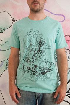 """T-shirt Homme """" Chien Entrelacs """""""