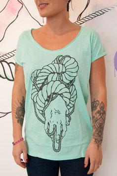 """T-shirt Femme """" Main Entrelacs """""""