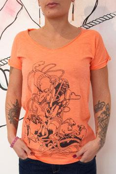 """T-shirt Femme """" Chien Entrelacs """""""