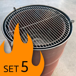 SET 5: FIRE-ZEUG Urban Grill Tonne