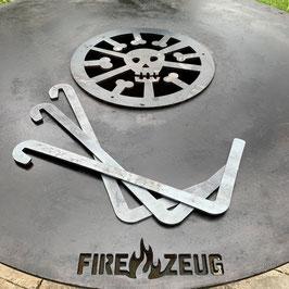 3er-Set Abstands- und Feuerkorb-Halter