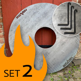 SET 2: FIRE-ZEUG-Platte + Abstandshalter