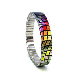 Waves Mosaic - multicolor bricks