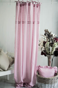 Julia Vorhangset rosa Leinenoptik 2x120x250cm
