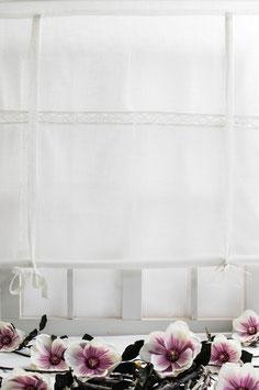 Julia Raffgardine offwhite Leinenoptik 120x120cm