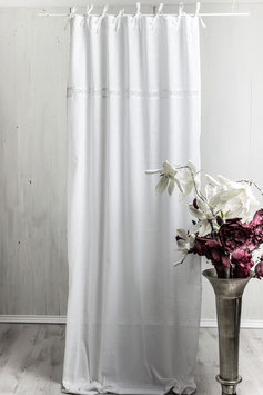 Julia Vorhangset weiss Leinenoptik 2x120x250cm