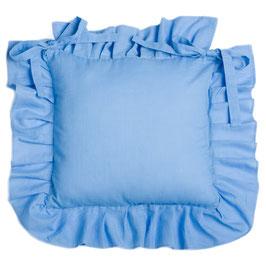 Julia Stuhlkissenbezug blau pastell 42x42cm (+12cm Rüsche)