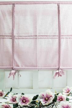 Julia Raffgardine rosa Leinenoptik 140x120cm