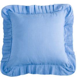 Julia Kissenbezug blau pastell 45x45cm (+5cm Rüsche)