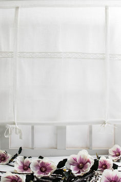 Julia Raffgardine offwhite Leinenoptik 160x120cm
