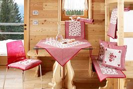 Galtex Tischdecke 140x180cm Provenza Rosali Country Landhaus Rot
