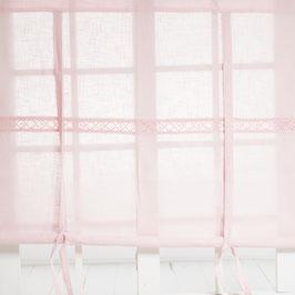 Julia Raffgardine Muschel rosa 100x120cm