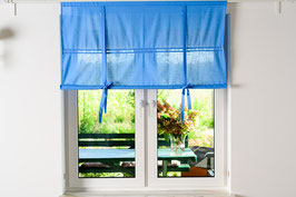 Julia Raffgardine blau pastell 120x120cm