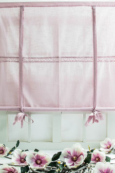 Julia Raffgardine rosa Leinenoptik 120x120cm
