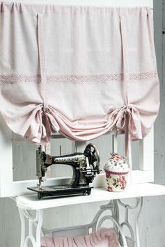 Julia Raffgardine Muschel rosa 140x120cm